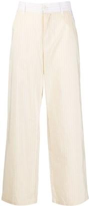 Barena Pinstripe Wide-Leg Trousers