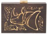 Valentino Garavani Rhino Wood & Metal Clutch