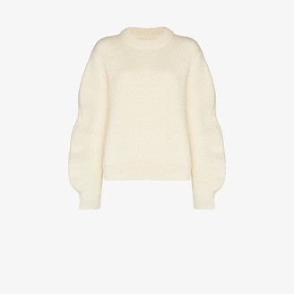 Jil Sander Puff Sleeve Mohair Sweater