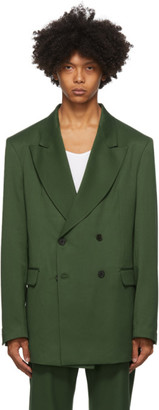 Han Kjobenhavn Green Boxy Double-Breasted Blazer