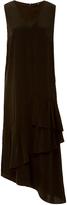 Tibi Silk Crepe De Chine Ruffle Dress