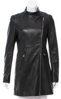 Elie Tahari Zip Up Leather Jacket