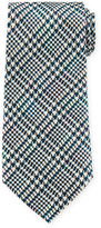 Tom Ford Striped Houndstooth Silk Tie