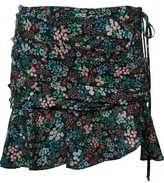 Veronica Beard Violet Floral Mini Skirt