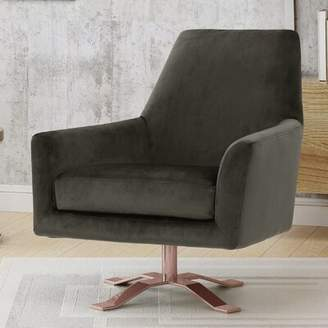 Mercer41 Devers Swivel Armchair Mercer41 Upholstery Color: Gray
