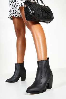 boohoo Ankle Western Boots