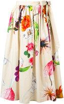 Blumarine tie side floral skirt