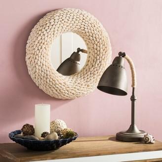 "Safavieh Magnolia Coastal Beige Seashell 20-inch Round Decorative Mirror - 20"" x 3.5"" x 20"""