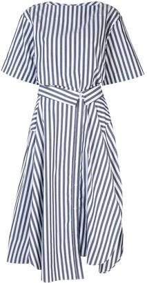 Juun.J striped midi dress