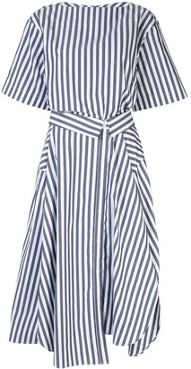 Juun.J Striped Midi Dress