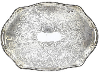 One Kings Lane Vintage English Silver-Plate Gallery Tray - Rose Victoria
