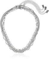 Steve Madden SMN463549RH 3 Piece Chain Choker Necklace