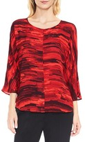 Vince Camuto Women's Muses Print Dolman Sleeve Blouse