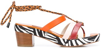 Missoni Braided Ankle Strap Sandals