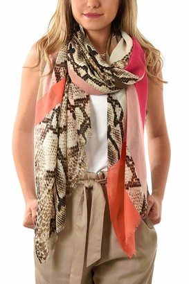 Style Slice Snakeskin Print Scarfs for Women | Snake Accessories | Scarves | Blue Mustard Yellow Red Pink Grey | Ladies Lightweight Scarfs | Winter Fashion | Gifts Presents | Christmas | Prime