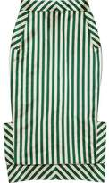 Ronald Van Der Kemp Striped Duchesse-Satin Midi Skirt