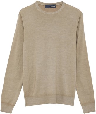 Lardini Garment dyed wool silk blend sweater
