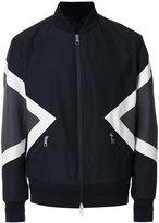 Neil Barrett graphic bomber jacket - men - Cotton/Polyamide/Polyester/Cupro - S