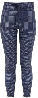 The Upside Polka-dot Stretch-jersey Leggings - Navy Print