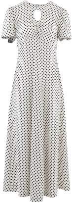 ALEXACHUNG Alexa Chung Long polka dot dress