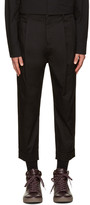 Helmut Lang Black Front Cuff Trousers