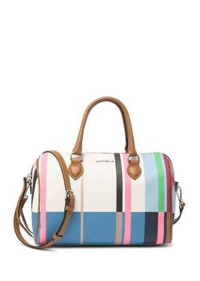 Coccinelle Leather Striped Satchel