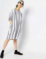 Monki Oversized Stripe Dress