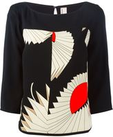 Antonio Marras geometric print top