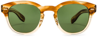 Oliver Peoples Cary Grant Sunglasses in Honey & Green Wash | FWRD