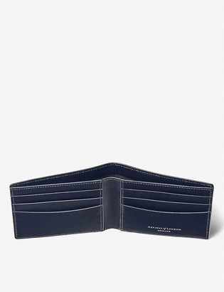 Aspinal of London Saffiano-leather billfold wallet