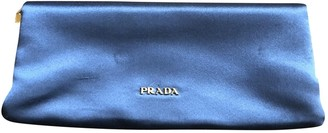 Prada Grey Silk Clutch bags