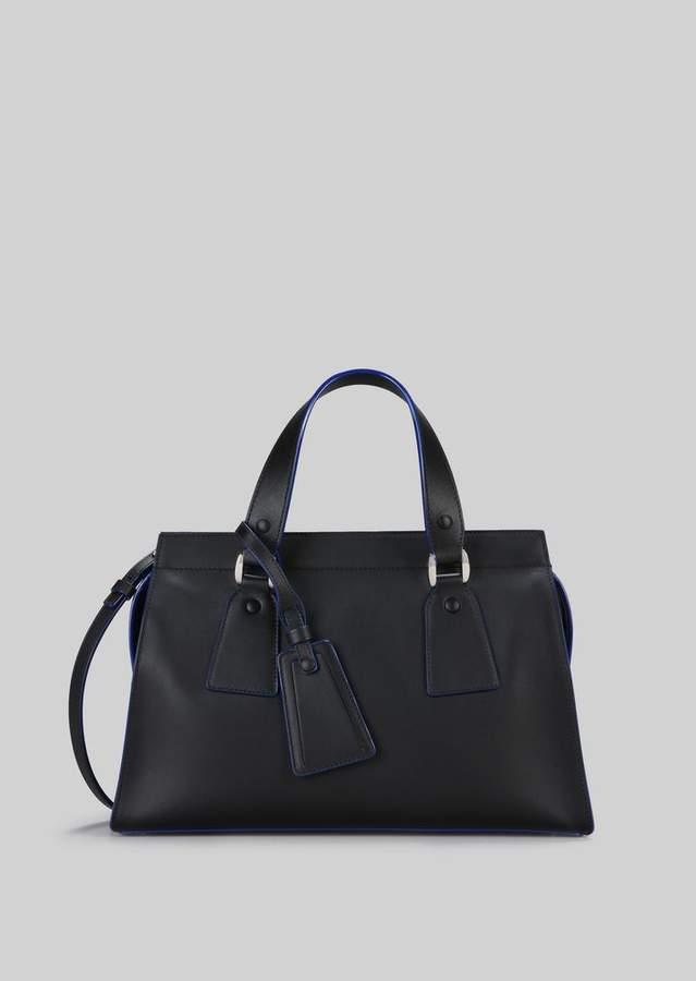 Giorgio Armani Top Handle Bag In Vegetable Tanned Calfskin