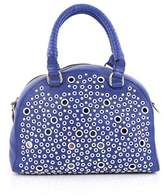 Christian Louboutin Pre-owned: Eyelet Panettone Convertible Satchel Leather Small.