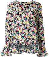 Etro floral V-neck blouse - women - Silk/Polyester - 42