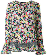 Etro floral V-neck blouse
