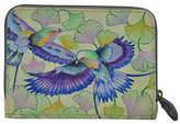 Anuschka Birds Zip-Around Leather Card Case