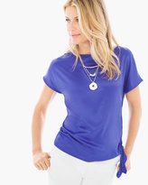 Chico's Knit Woven Side-Tie Top