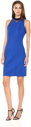 T Tahari Women's Emebellished Choker Bristol Dress