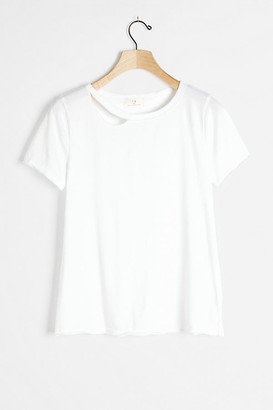 Mariela Cut-Out Tee By T.La in White Size XS