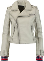Marc by Marc Jacobs Washed-leather biker jacket