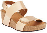 Clarks As Is Leather Wedge Backstrap Sandals - Auriel Fin