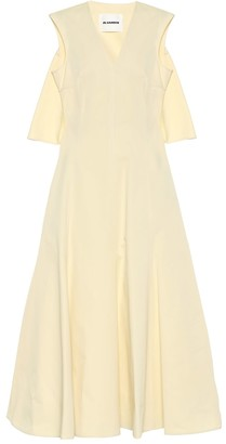 Jil Sander Cotton and silk maxi dress