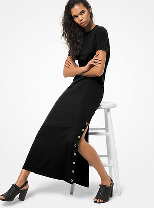 Michael Kors Cotton Blend Midi T-Shirt Dress