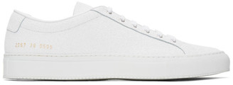Common Projects White Premium Achilles Sneakers