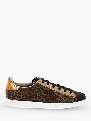 Victoria Tenis Animal Print Trainers, Brown