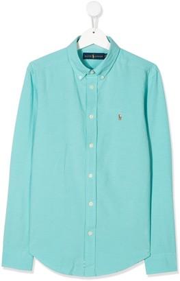 Ralph Lauren Kids TEEN button-down logo shirt