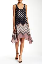 Trixxi Printed Handkerchief Hem Dress