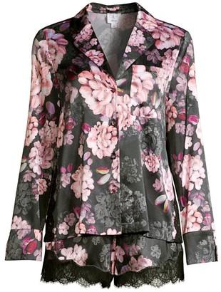 CAMI NYC Poppy 2-Piece Dahlia Stretch-Silk Pajama Set