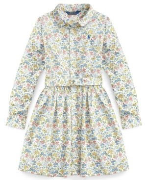 Polo Ralph Lauren Big Girl Floral Fit-and-Flare Dress