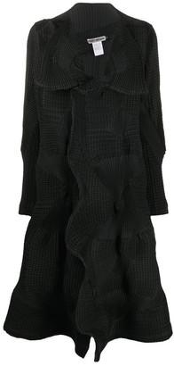 Issey Miyake Long Printed Jacket